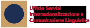 Ufficio Servizi Internazionalizzazione e Comunicazione Linguistica Logo